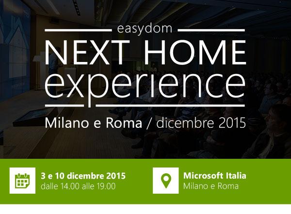 Invito personale Easydom: Next Home Experience